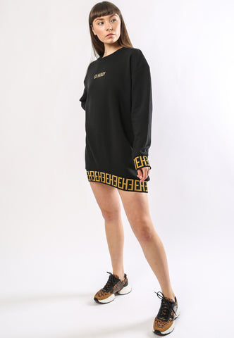 BIG-TOUR SWEATER DRESS OVERSIZED - BLACK