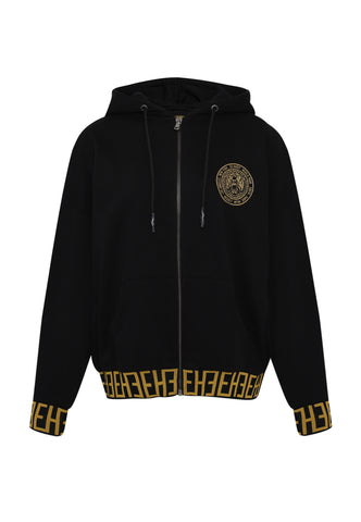 BIG-TOUR ZIP HOODY OVERSIZED HOODY - BLACK - Image 2