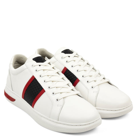 BLADE LOW TOP - WHITE/BLACK/RED