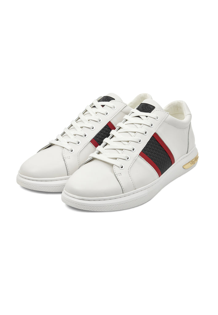 BLADE LOW TOP - WHITE/RED/GOLD - Ed Hardy Official