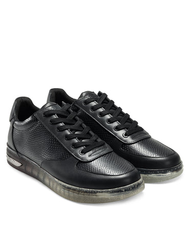 CLEAR-REP LOW TOP-BLACK