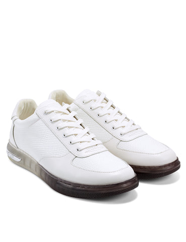 CLEAR-REP LOW TOP-WHITE
