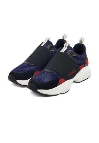 COVERED RUNNER-BLACK/RED/NAVY