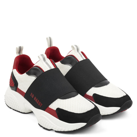 COVERED RUNNER-BLACK/RED/WHITE