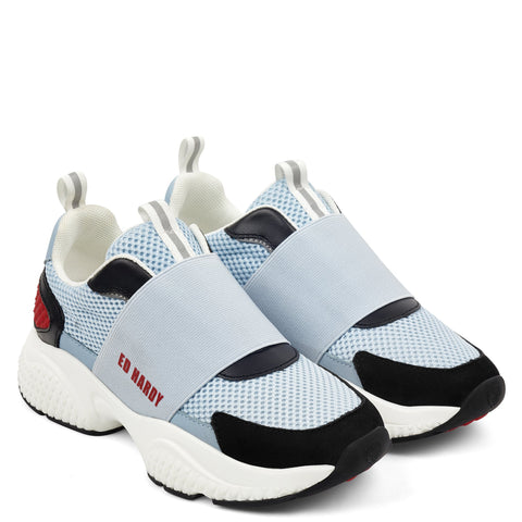 COVERED RUNNER-BLUE/RED/BLACK