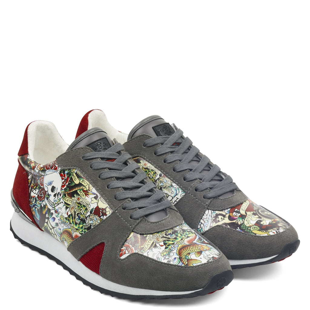 COVERED RUNNER - GREY/COVER - Ed Hardy Official