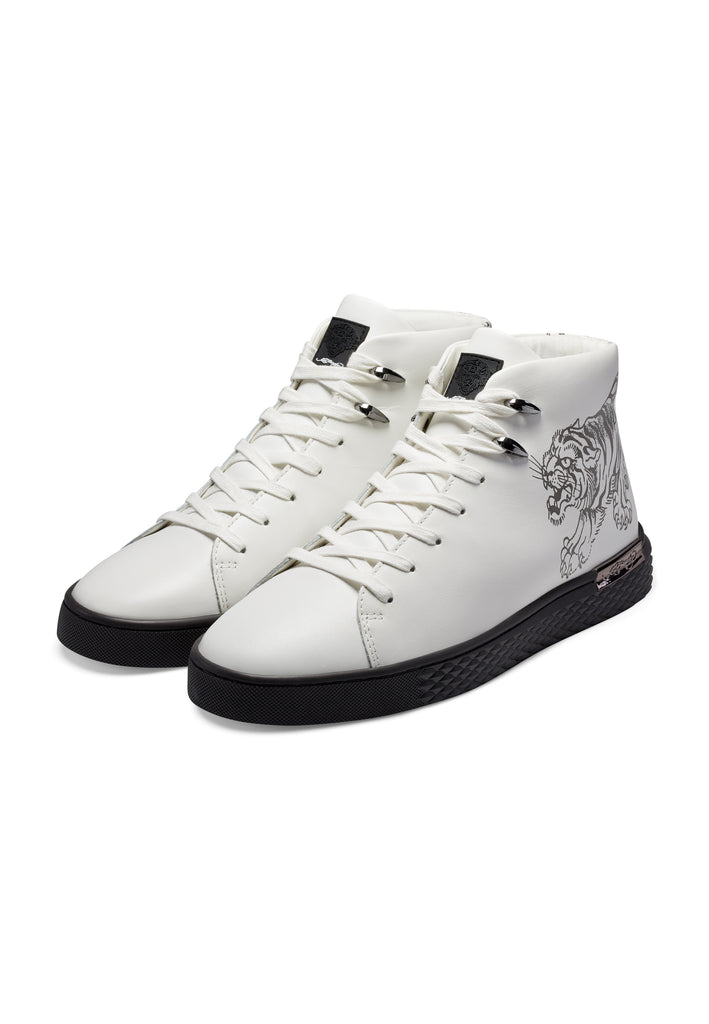 CREEPER HIGH TOP - WHITE/GUNMETAL