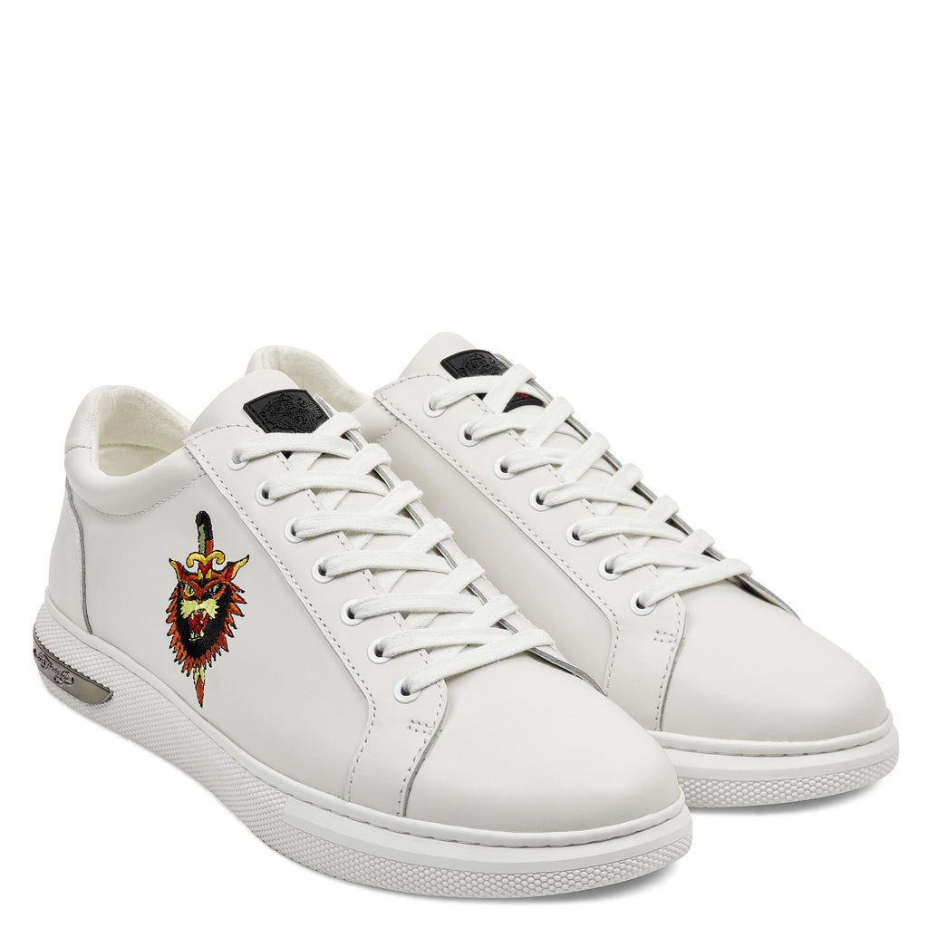 DAGGER LOW TOP - WHITE - Ed Hardy Official