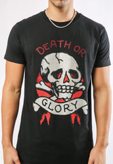 DEATH-STUD T-SHIRT - BLACK
