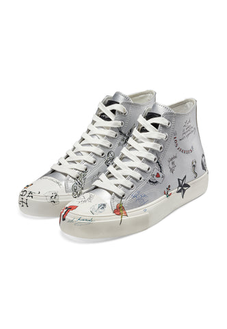 DOODLE HIGH TOP - SILVER