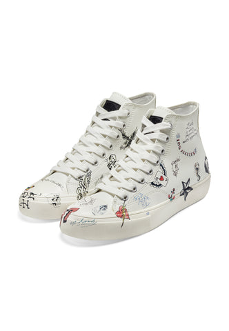 DOODLE HIGH TOP-WHITE