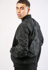 DRAG-CLOUD NYLON BOMBER JACKET - BLACK