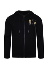 DRAGON-13 ZIP THRU FLEECE SWEAT HOODY - BLACK - Ed Hardy Official