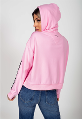 LOVE ED CROP ZIP HOODY-PINK - Ed Hardy Official