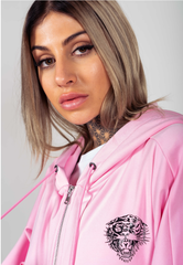 LOVE ED OVERSIZE ZIP HOODY-PINK - Ed Hardy Official
