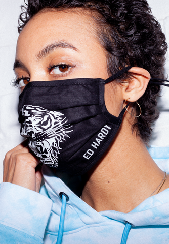 SEXY BEAST MASK - BLACK/REFLECTIVE SILVER