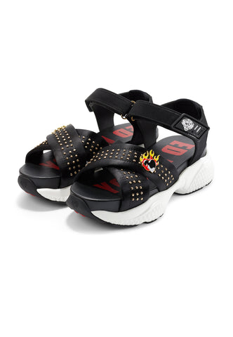 FLAMING SANDAL-BLACK