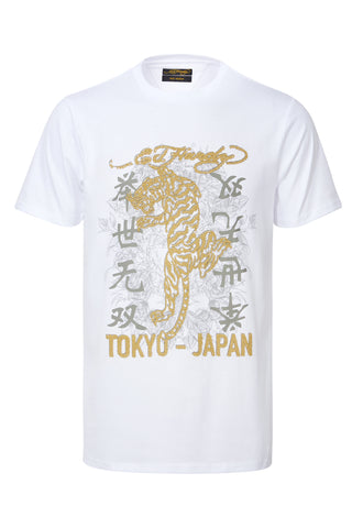 GOLD TIGER T SHIRT-WHITE
