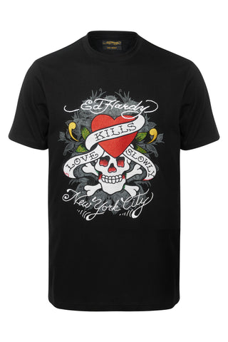 KILL LOVE T SHIRT-BLACK