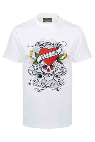 KILL LOVE T SHIRT-WHITE
