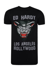 LA-PANTHER T-SHIRT - BLACK - Ed Hardy Official