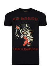 LA-WOLF T-SHIRT - BLACK - Ed Hardy Official