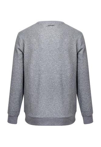 LOVE ED CREW SWEAT-GREY MARLE - Image 2
