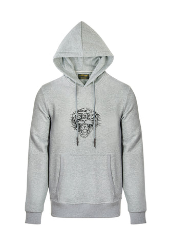LOVE ED HOODY-GREY MARLE