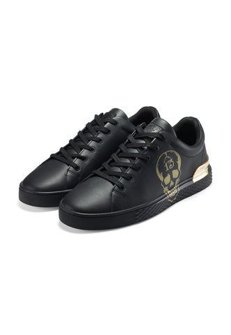 LUCKY SKULL-13 LOW TOP - BLACK/GOLD