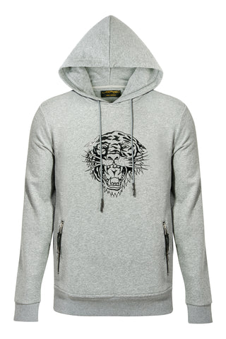 MATT TIGER HOODY-GREY MARLE