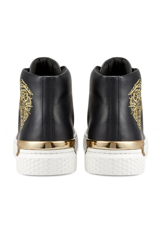 NEW BEAST HIGH TOP-BLACK/WHITE/GOLD - Image 2