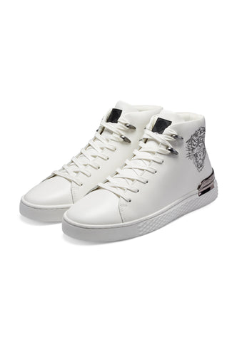 NEW BEAST HIGH TOP-WHITE/GUNMETAL