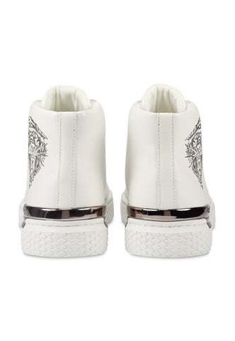 NEW BEAST HIGH TOP-WHITE/GUNMETAL - Image 2