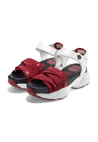 OVERLAP SANDAL-RED/WHITE
