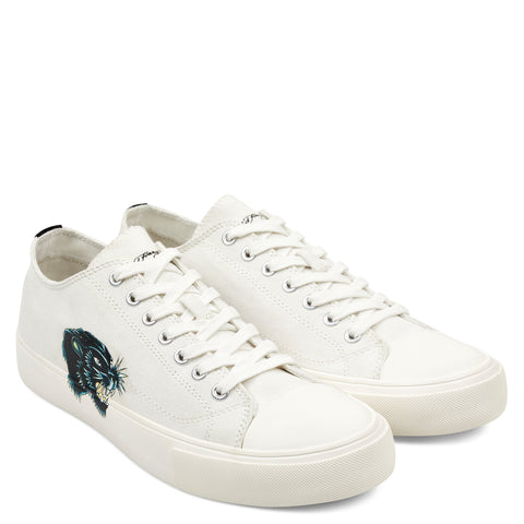 PANTHER HEAD LOW TOP - WHITE
