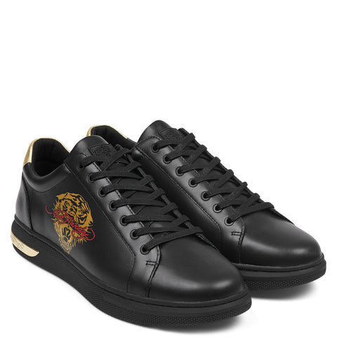 POP LOW TOP-BLACK/GOLD