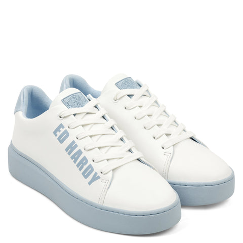 POP LOW TOP-WHITE/BLUE