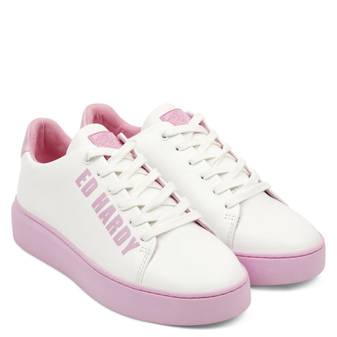 POP LOW TOP-WHITE/PINK
