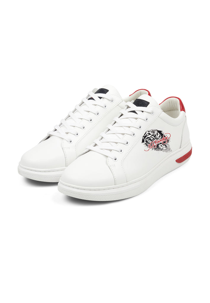 POP LOW TOP-WHITE/RED