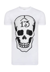 SKULL-13 T-SHIRT - WHITE - Ed Hardy Official