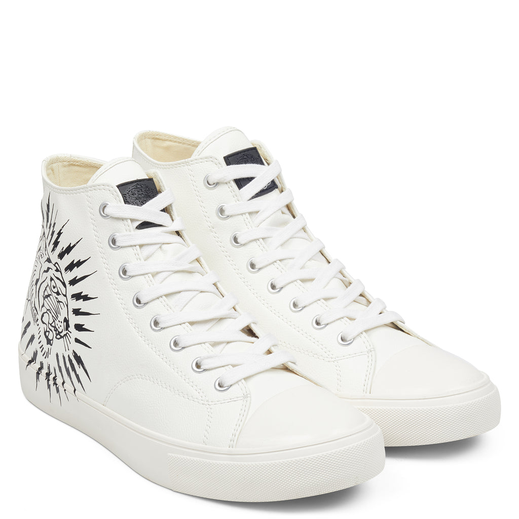 SPARK HIGH TOP-WHITE - Ed Hardy Official
