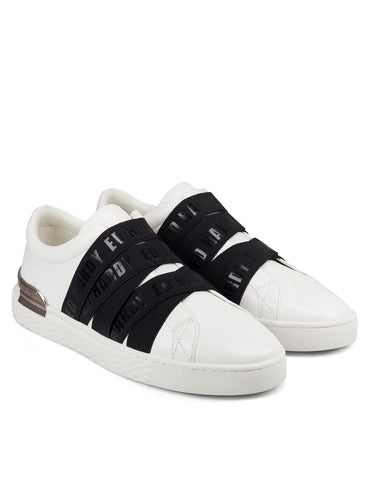 STRETCH LOW TOP-WHITE/BLACK