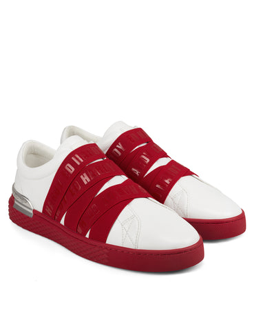 STRETCH LOW TOP-WHITE/RED