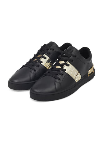 STRIPE LOW TOP-METALLIC-BLACK/GOLD