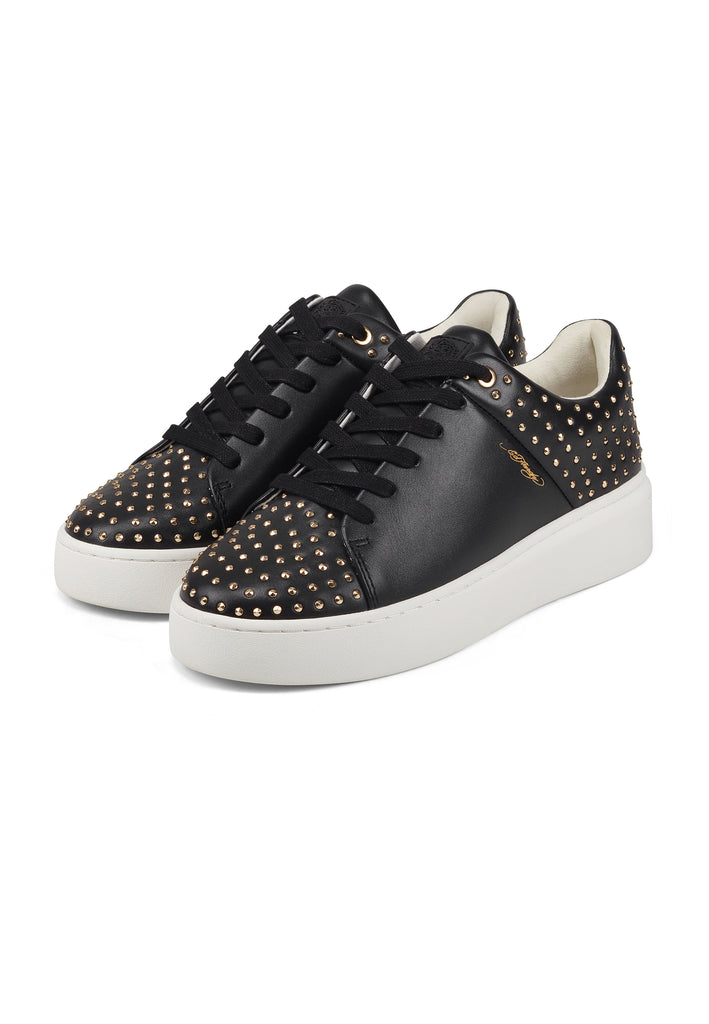 STUD-ED LOW TOP-BLACK/GOLD - Ed Hardy Official