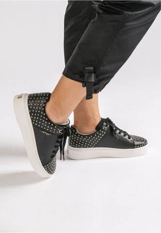 STUD-ED LOW TOP-BLACK/GOLD - Image 2