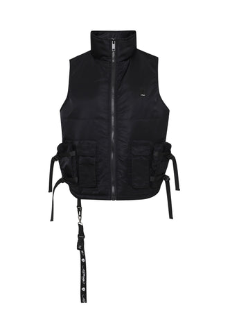 TIGER-BELLOWS BODY WARMER - BLACK - Image 2