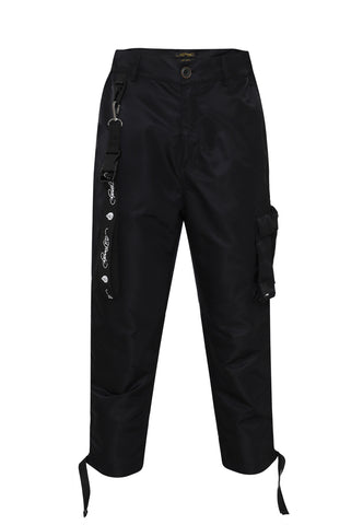 TIGER-BELLOWS PANT - BLACK