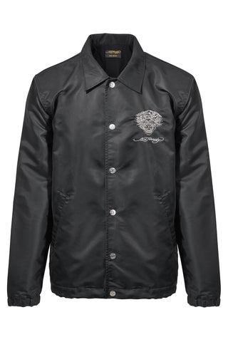 TIGER COACH JACKET-BLACK
