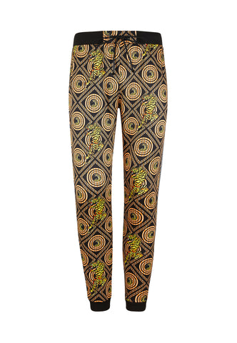 TIGER BAROQUE CROUCH TRACK PANT - BLACK